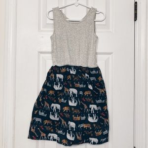 GapKids Casual Safari Print Tank Dress Size M